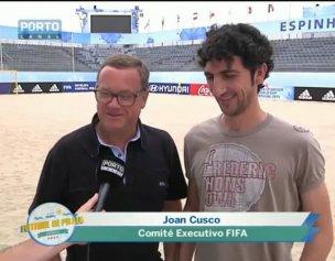 Treinador do hóquei do FC Porto visitou o estádio da Baía