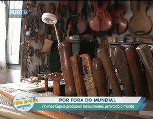 Violinos Capela produzem instrumentos de Espinho para o mundo