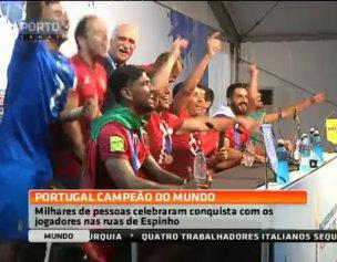 Milhares de portugueses celebraram a conquista do Mundial de Espinho