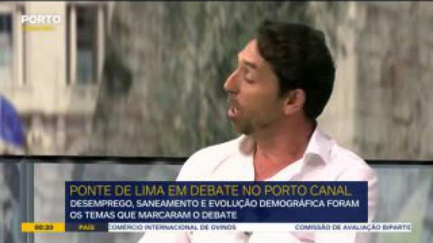 Desemprego, saneamento e o envelhecimento da população foram os principais temas no debate de Ponte de Lima