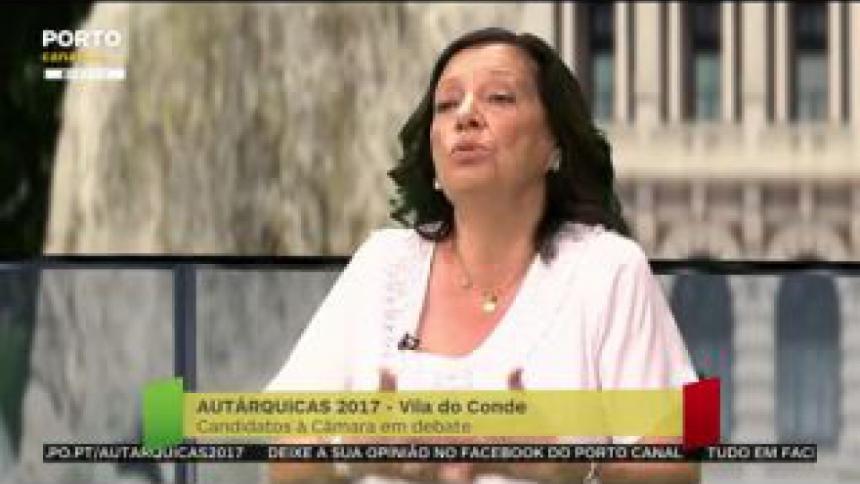 """Elisa Ferraz defende projeto dos últimos quatro anos e diz que Vila do Conde foi o primeiro a ter """"uma diminuição significativa nos impostos"""""""