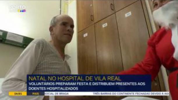 Voluntários distribuem sorrisos no hospital de Vila Real