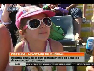 Adeptos de Portugal no Porto mostraram a desilusão com afastamento do Mundial