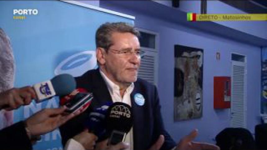 Narciso Miranda diz que está satisfeito como as eleições decorreram em Matosinhos e espera com expectativa pelos resultados oficiais