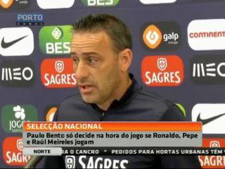 Paulo Bento só decide na hora se Ronaldo joga ou não