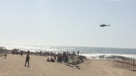 Retomadas buscas pelos jovens desaparecidos na Praia de Espinho
