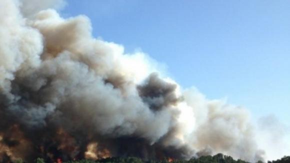 Caiu um helicóptero acionado para combater o fogo em Alijó, Vila Real