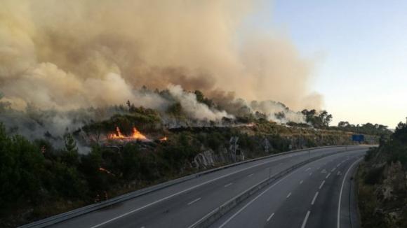 Autoestrada A25 cortada entre Chãs de Tavares e Fornos de Algodres devido a incêndio