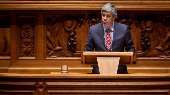 """Centeno já sente o trabalho """"bastante exigente"""" de presidente do Eurogrupo"""