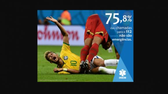 INEM cria 'meme' de Neymar para combater chamadas falsas para o 112