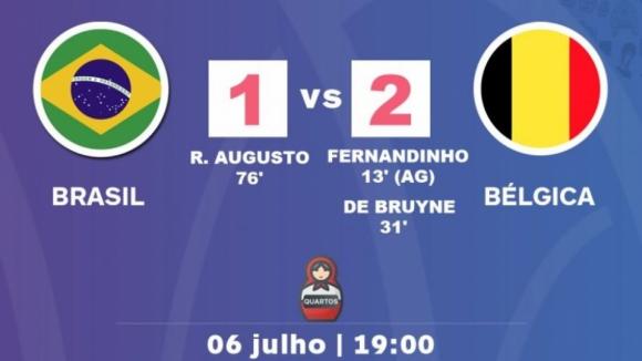 Bélgica bate Brasil e qualifica-se para as meias-finais