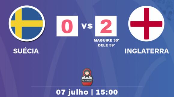 Inglaterra vence Suécia e apura-se pela terceira vez para as 'meias'