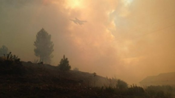 Fogo de Monchique já destruiu mais de 21.300 hectares