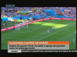 """Götze deu """"tetra"""" à Alemanha com """"grande"""" golo aos 113 minutos"""